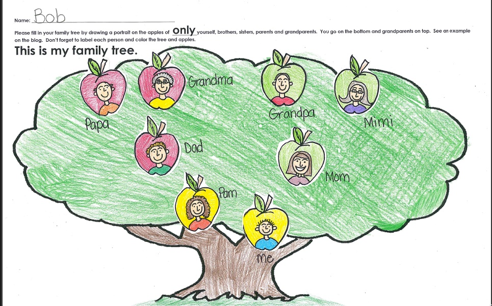 how to draw a family tree for a school project